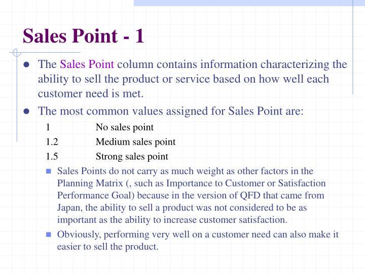 Sales Point - 1