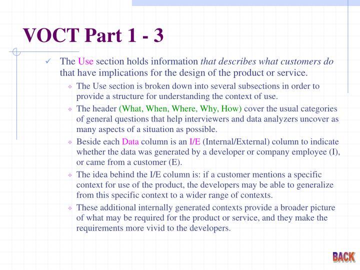 VOCT Part 1 - 3
