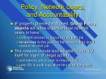 policy network users and accountability