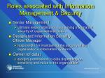 roles associated with information management security