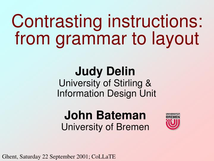 contrasting instructions from grammar to layout n.
