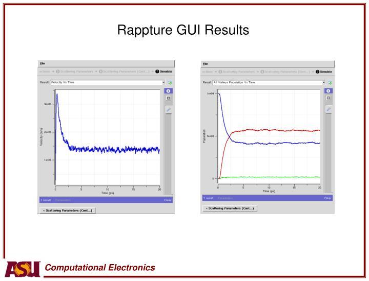 Rappture GUI Results