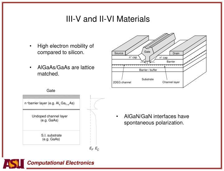 III-V and II-VI Materials