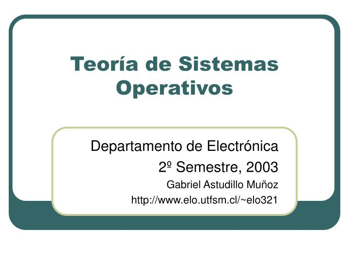 teor a de sistemas operativos n.