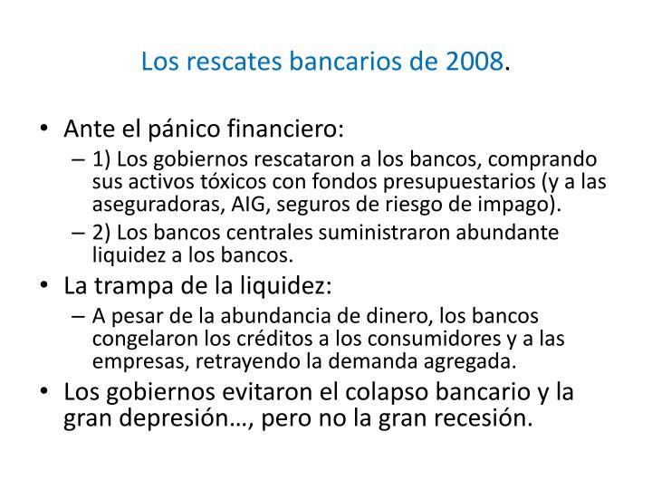 Los rescates bancarios de 2008
