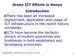 green ict efforts in kenya1