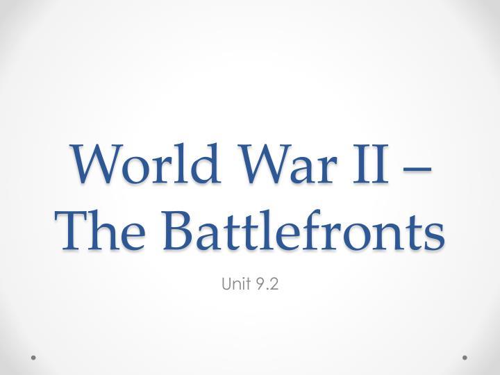 world war ii the battlefronts n.