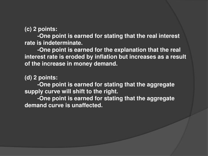(c) 2 points: