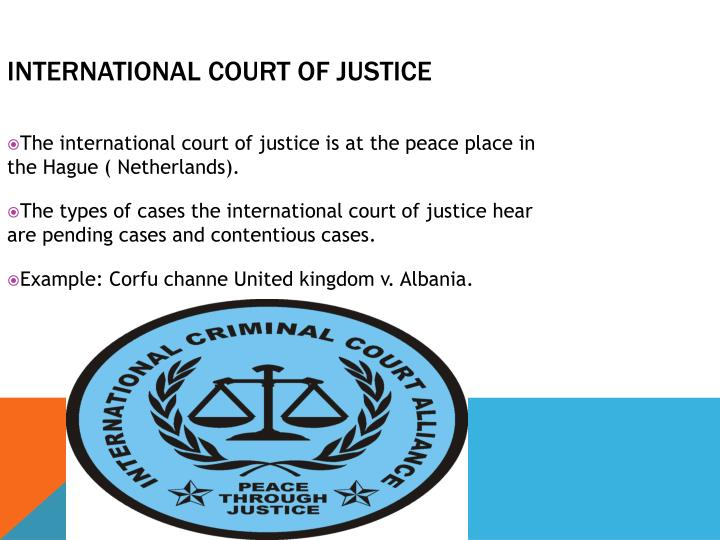 an analysis of the role of the international court of justice in the united nations Part v the united nations 10 the role of the international court of justice in the development of the institutional law of the united nations  the role of the .
