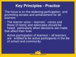 key principles practice