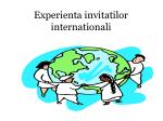 experienta invitatilor internationali
