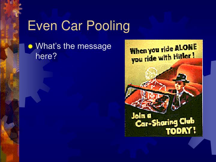 Even Car Pooling