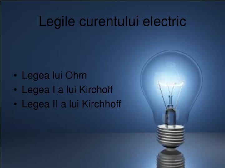 Legile curentului electric