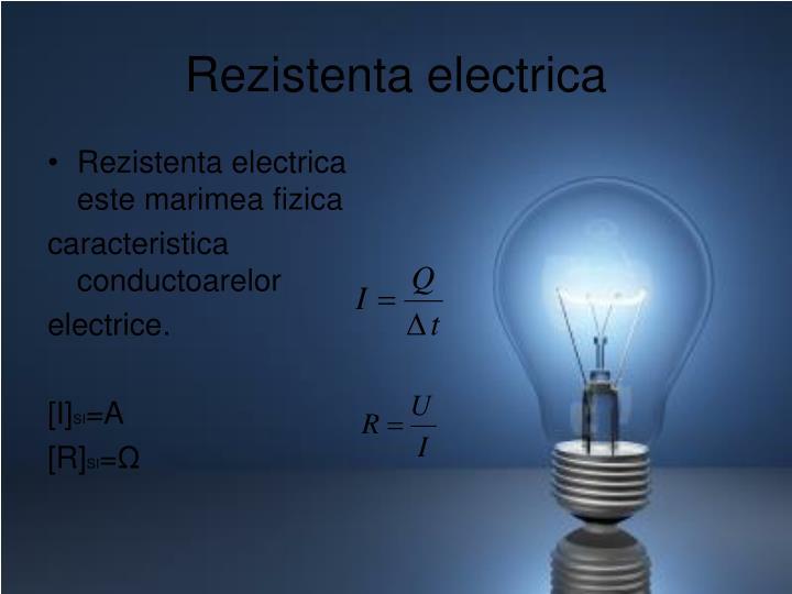 Rezistenta electrica
