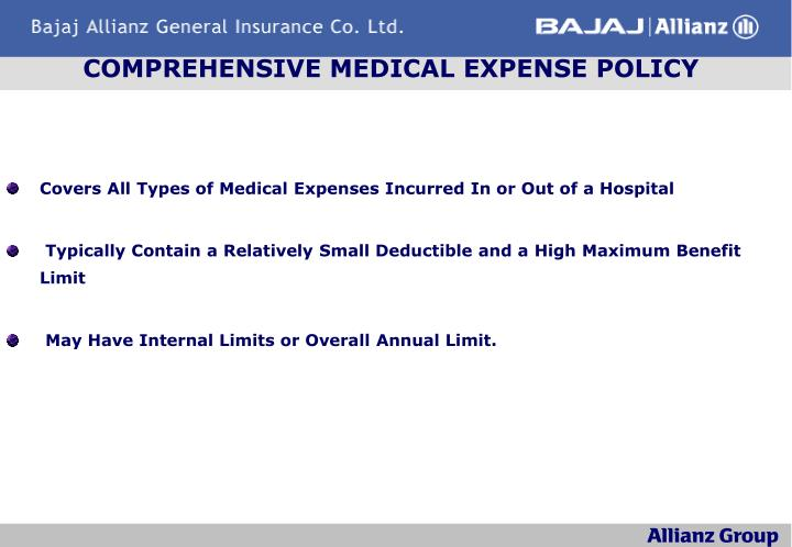 COMPREHENSIVE MEDICAL EXPENSE POLICY