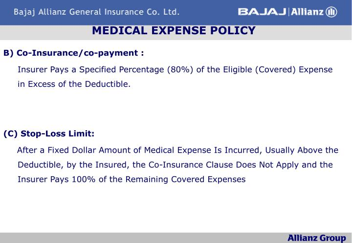 MEDICAL EXPENSE POLICY