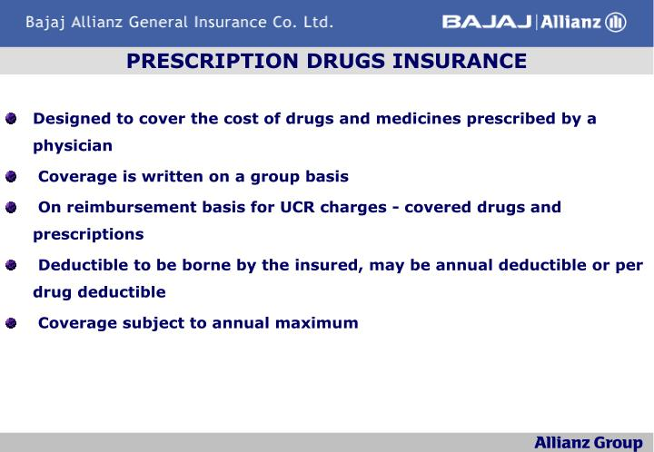 PRESCRIPTION DRUGS INSURANCE