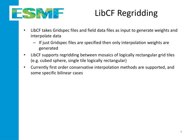 LibCF Regridding