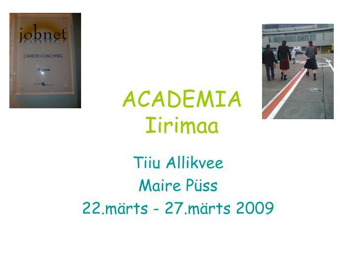 Academia iirimaa