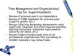 time management and organizational tips for superintendents