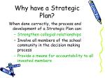 why have a strategic plan