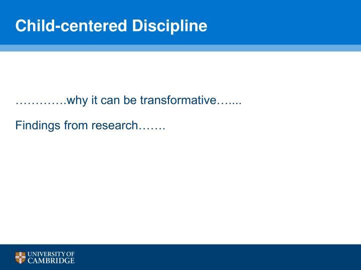 Child-centered Discipline