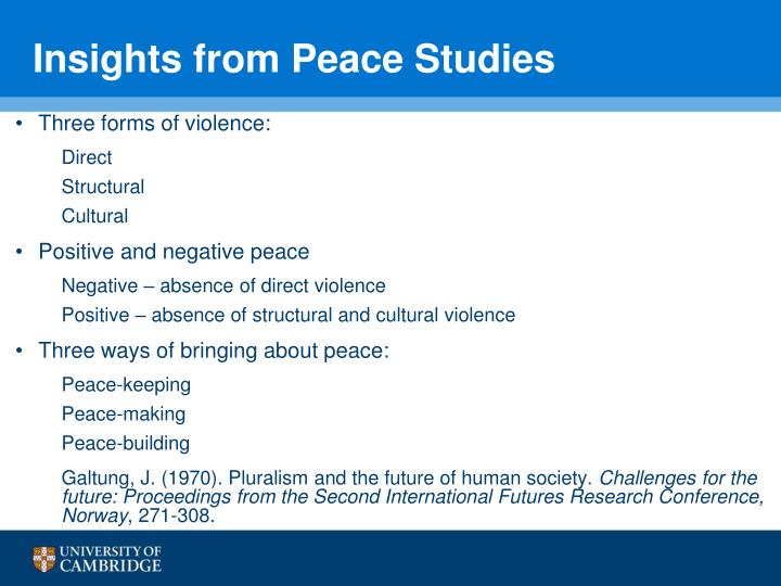 Insights from Peace Studies