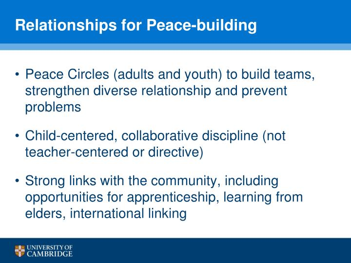 Relationships for Peace-building