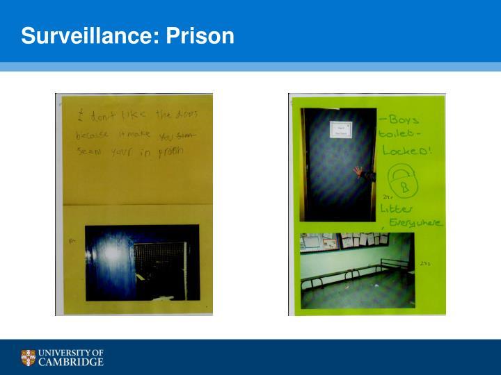 Surveillance: Prison
