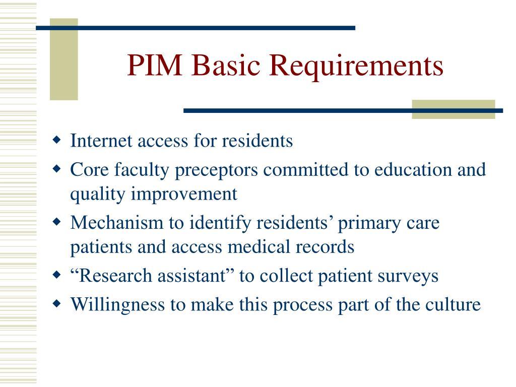 PPT - AAIM-ABIM PIM Project PowerPoint Presentation - ID:3491993
