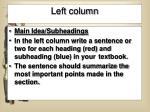 left column