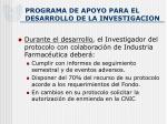 programa de apoyo para el desarrollo de la investigacion8