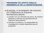 programa de apoyo para el desarrollo de la investigacion9