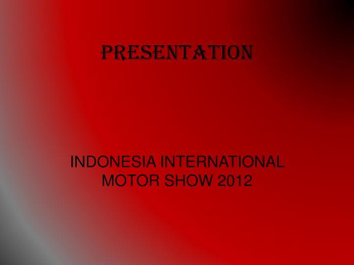 presentation n.