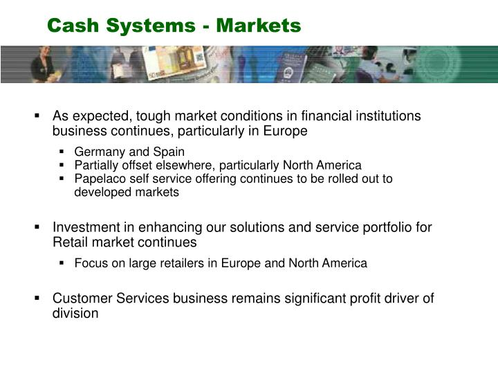 Cash Systems - Markets