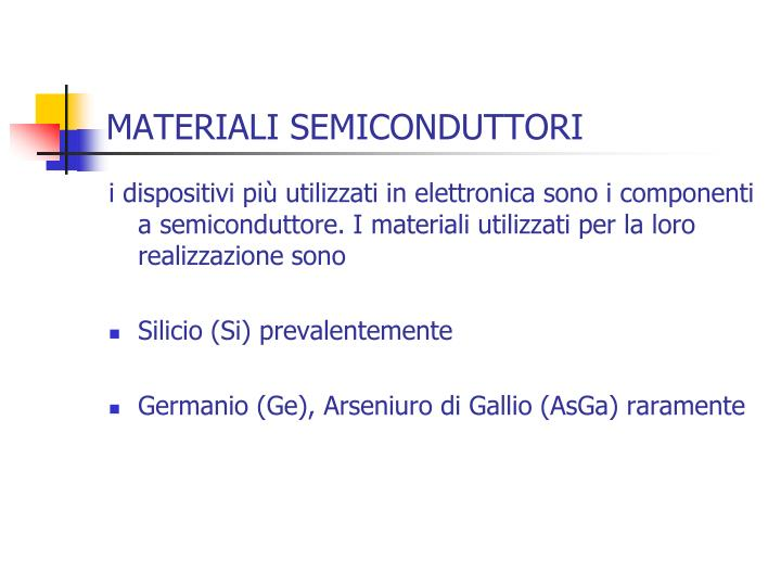 Materiali semiconduttori