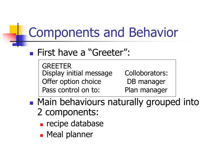 Components and Behavior
