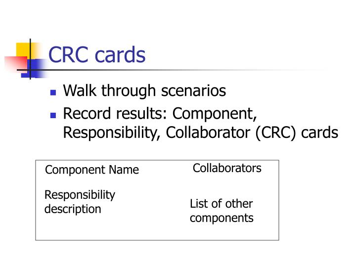 CRC cards