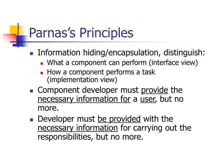 Parnas's Principles