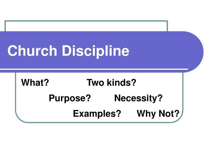 church discipline n.