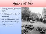 after civil war