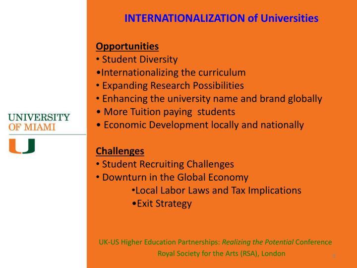INTERNATIONALIZATION of Universities