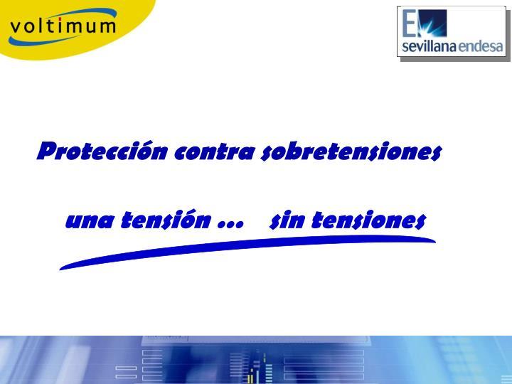 Protección contra sobretensiones