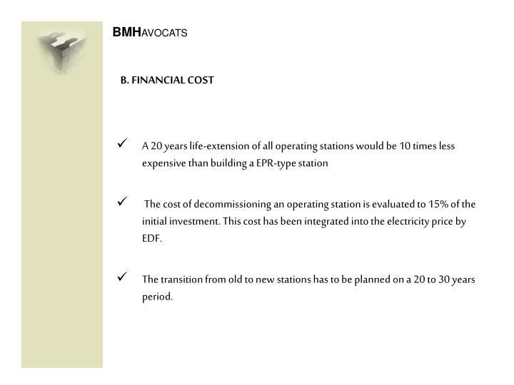B. FINANCIAL COST