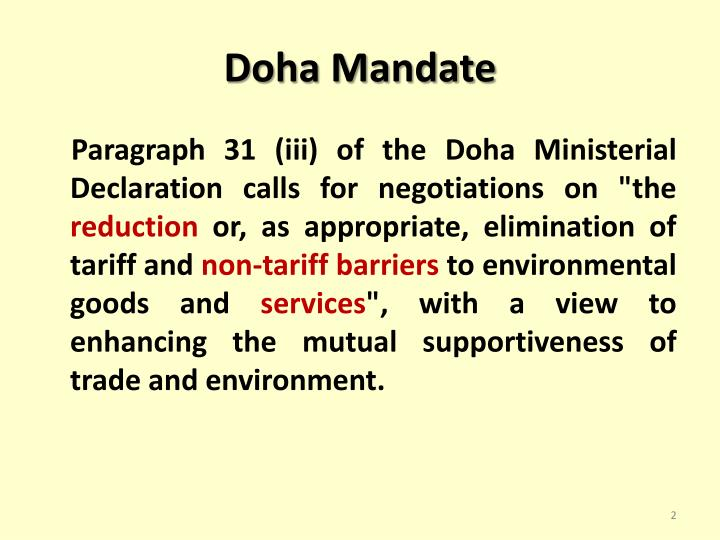 Doha mandate