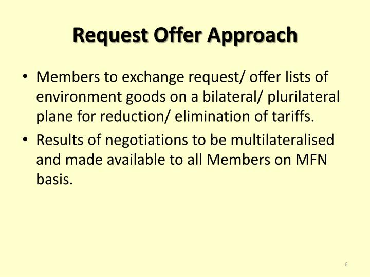 Request Offer Approach