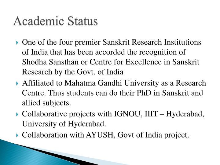 Academic Status