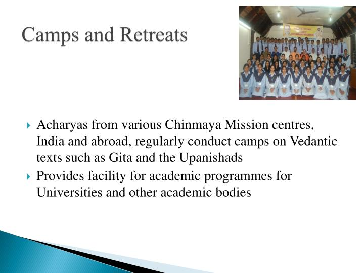 Camps and Retreats
