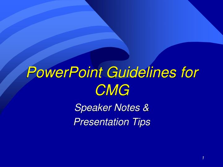 powerpoint guidelines for cmg n.