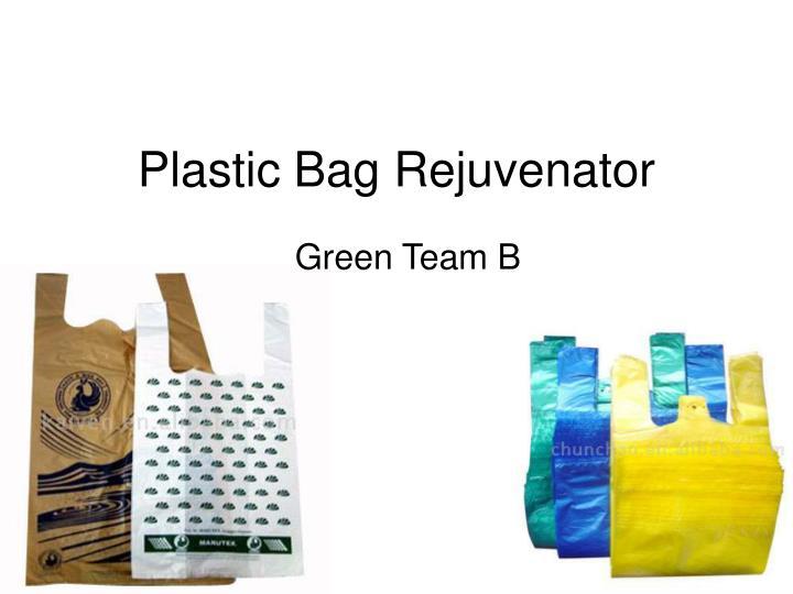 Plastic bag recycler